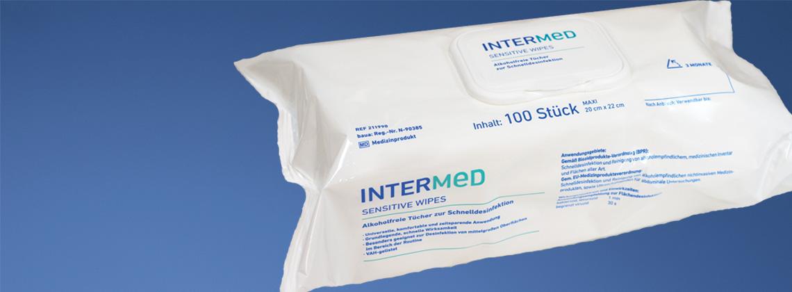 INTERMED Desinfektionstücher im Flowpack