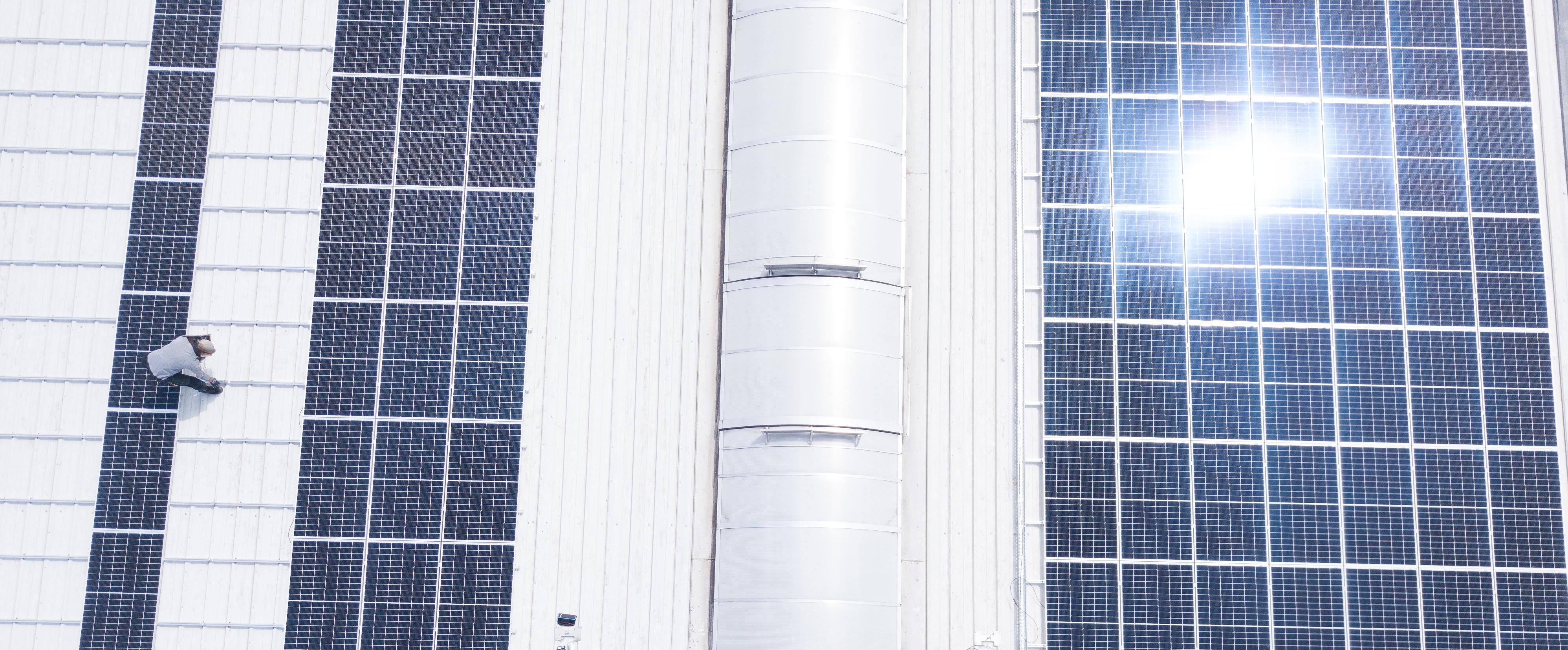 Photovoltaikanlage auf dem Lagerdach