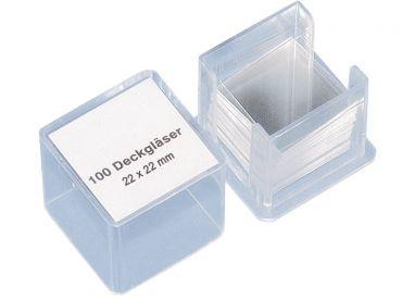 Deckgläser 22 x 22 mm, 1x100 Stück