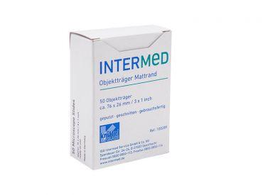 INTERMED Objektträger mit Mattrand, 1x50 Stück