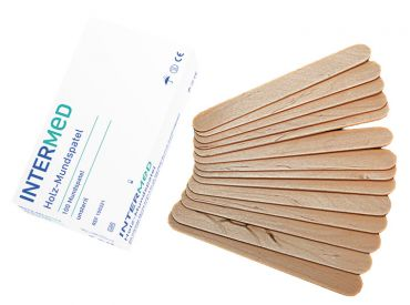 INTERMED Holz-Mundspatel 1x100 Stück