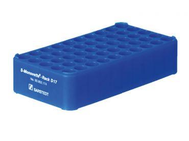 S-Monovette®-Rack D17, ohne Griff, blau, 1x1 Stück