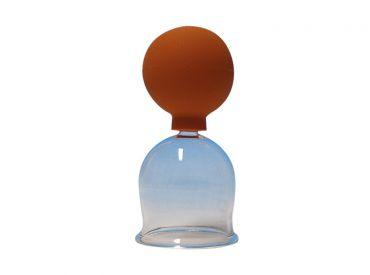 Schröpfkopf Ø 4,4 cm, dünnwandiges mundgeblasenes Glas, mit Olive, mit Ball 1x1 Stück