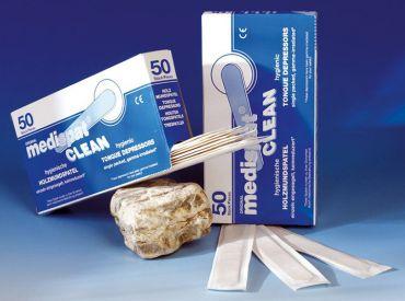 Holzmundspatel einzeln in Papier eingesiegelt, 150 x 20 mm, sterilisiert 1x50 items