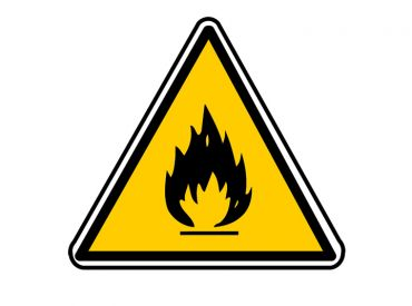 """Hinweisschild """"Warnung vor gefährlichen Stoffen"""" selbstklebende Folie 1x1 Stück"""