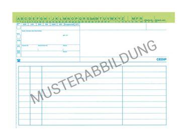 Supra-Cedip Karteimappe grün für HNO-Ärzte 1x250 Stück