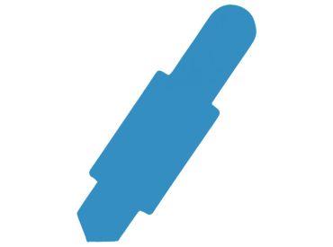 Karten-Reiter hellblau für Karteitasche A4 111583 und Hülle 110596 1x100 Stück