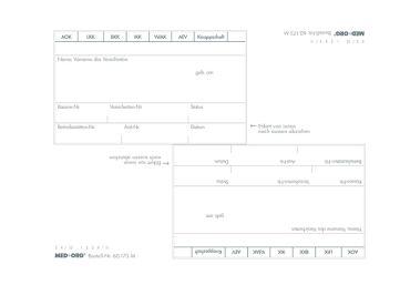Adressfeld - Aufkleber 80 x 48 mm 1x500 items