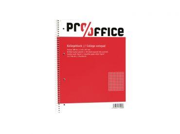 Pro/office Kollegeblock DIN A4, kariert, 80 Blatt, Spiralbindung 1x1 Stück