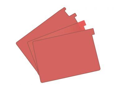Signalkarten A5 rot TAB: 20 mm hoch 1x100 items