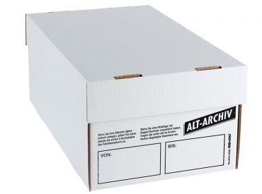 Alt-Archiv-Karton A5 mit Deckel weiß 1x1 items