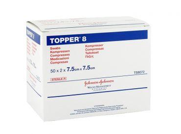 TOPPER 8-Kompressen, 7,5 x 7,5 cm, steril 50x2 Stück