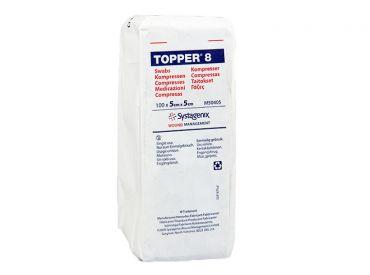 TOPPER 8-Kompressen, 5 x 5 cm, unsteril 1x100 Stück