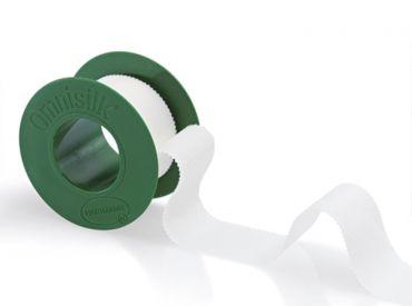 Omnisilk® Fixierpflaster, 2,5 cm x 5 m, mit Sprengring 1x1 Rollen