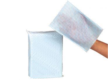 Servocare® Einweg-Waschhandschuh blau-weiß 1x50 Stück