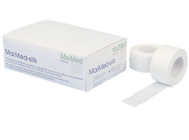 MaiMed®-silk Rollenpflaster 2,50 cm x 9,1 m in Spenderbox 1x12 Stück