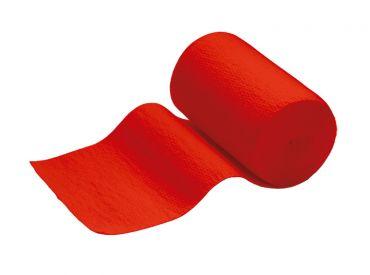 INTERMED Idealbinde, 5 m x 10 cm, rot, mit Verbandklammern, 1x10 Stück