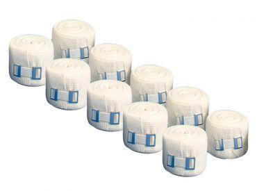 INTERMED DIN ideal weiß, mit Verbandklammern, 5 m x 10 cm, 1x10 Stück