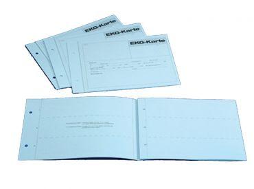 EKG-Karten, blau, Aufbewahrungskarten für 1-3 Ableitungen 1x100 items