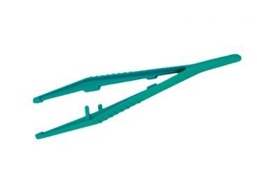 Anatomische Einmalpinzette 12,5 cm grün steril 1x20 items