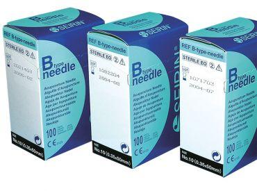 Akupunkturnadeln Seirin® B-Type, 0,35 x 50 mm Körper; für Erwachsene 1x100 Stück