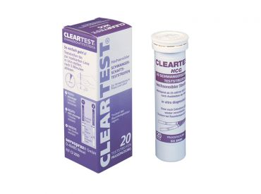 Cleartest® hCG test strips 1x20