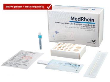 Corona-Schnelltest: Green Spring® SARS-CoV-2-Antigen Schnelltest-Set, 1x25 Teste