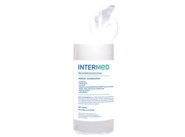INTERMED Desinfektionstücher, 14 x 20 cm, Spenderbox 1x120 Tücher