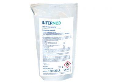 INTERMED Desinfektionstücher Nachfüllpack, 14 x 20 cm, 1x120 Tücher