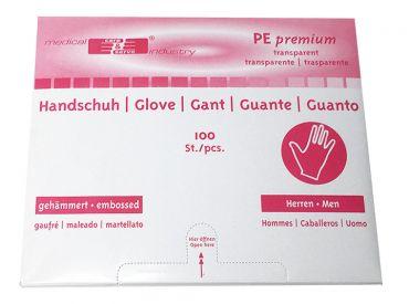 """PE-Handschuhe gehämmert """"HERREN"""" 1x100 Stück"""