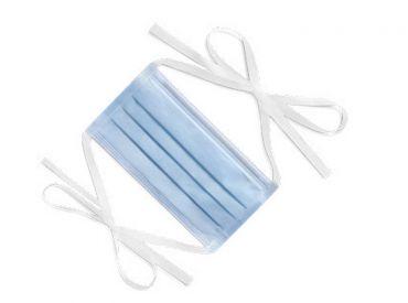 Mund-Nasenschutz Folitex® Antifog Tie-on blue, Typ IIR 1x50 Stück