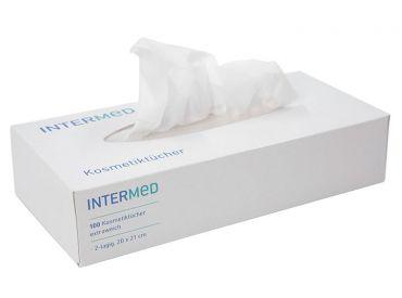 INTERMED Kosmetiktücher, extraweich, 2-lagig, weiß 1x100 Stück
