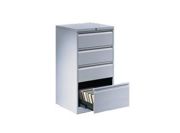Karteischrank BVL 345 K2, Griffleiste, 4 Schubladen, 2 Bahnen, 1050 x 552 x 600mm 1x1 Stück