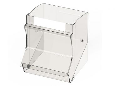 Einzelschütte groß für PicBox® mit Staubschutzdeckel 1x1 Stück