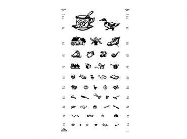 Sehprobentafel Kinderbilder, in Plastik eingeschweißt, 1x1 items