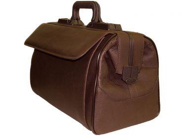 Arzttasche Rusticana, Wasserbüffelleder, braun, 1 Vortasche, Großformat 1x1 Stück