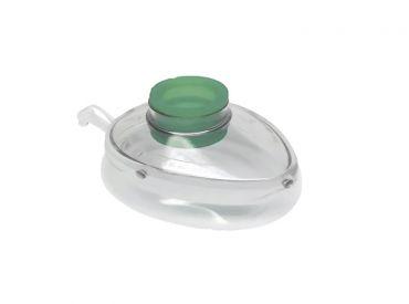 Beatmungsmaske, Klarsichtmaske mit aufblasbarem Wulst aus Silikon für Kinder und Jugendliche Gr. 3 1x1 Stück