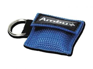 Ambu® LifeKey® im Nylon-Softcase-Schlüsselanhänger blau 1x25 items