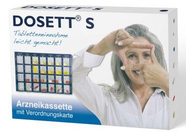 Dosett® S Arzneikasette blau 15 x 10 x 2,5 cm 1x1 Stück