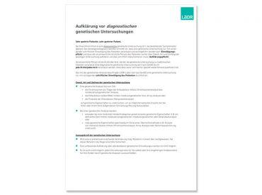 Aufklärung über diagnostische genetische Untersuchungen 1x1 Stück