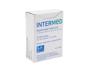 INTERMED Slide with matt strip, 1x50 items