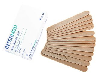 INTERMED wooden tongue depressor 1x100 items
