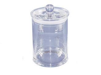 Glaszylinder mit Knopfdeckel für 24 Objektträger, 1x1 Stück