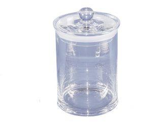 Glaszylinder mit Knopfdeckel für 42 Objektträger, 1x1 Stück