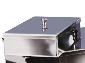 Instrumentenschale mit Knopfdeckel 20 x 10 x 5 cm (L x B x H) 1x1 Stück