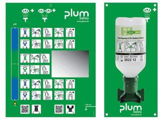 PLUM-Augenspülstation, mit 1 x 500 ml Flasche 1x1 Stück