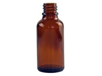 Tropfflasche 30ml aus Braunglas, mit Gewinde DIN 18, ohne Verschluss 1x1 Stück