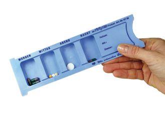 Medikamenten - Dispenser blau 225 x 63 mm 1x1 Stück