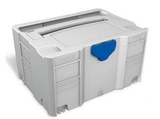 Isoliersystainer® III lichtgrau, T-Loc blau, Neopor, mit 2 Trennstegen 1x1 Stück