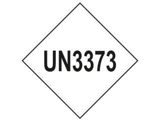 "Aufkleber ""UN3373"" mit Raute 75x75mm 1x1 Stück"